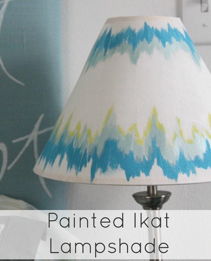 painted ikat lampshade