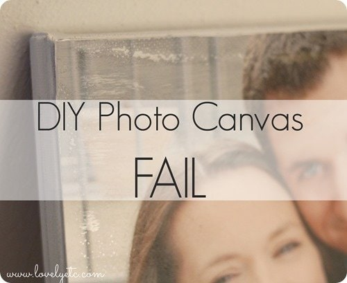 photo canvas fail