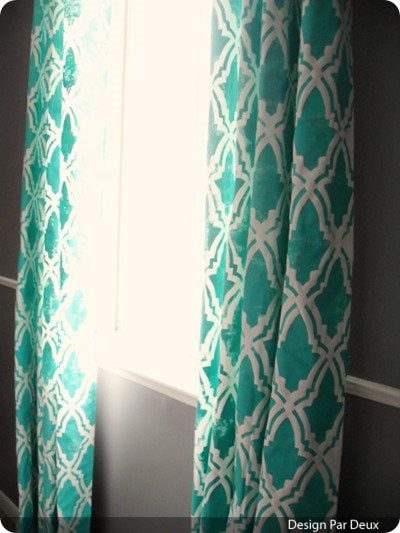 stenciled-curtains2 from design par deux