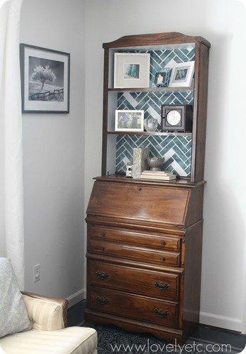 wild herringbone bookcase