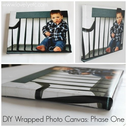 diy photo canvas with wrapped edges