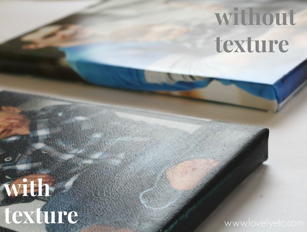 DIY photo canvas with and without texture
