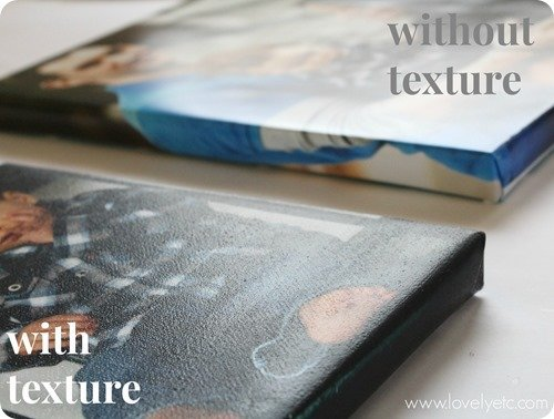 DIY photo canvas with and without canvas texture
