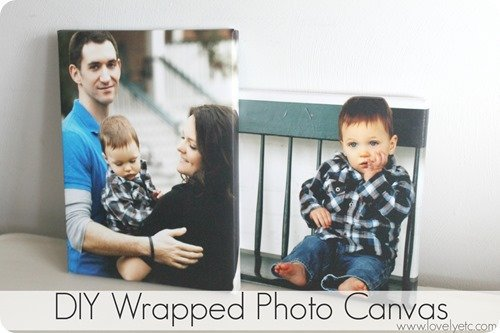 DIY wrapped photo canvas - just like the real thing