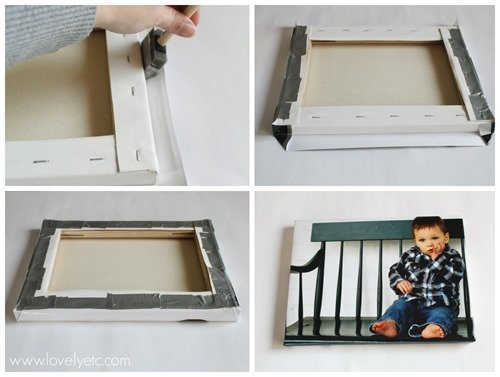 DIY wrapped photo canvas