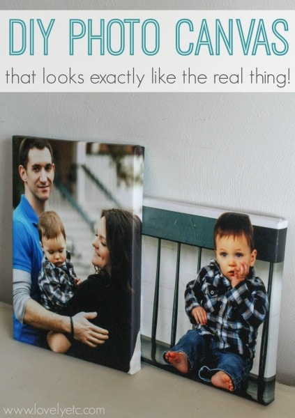 diy photo canvas that looks real