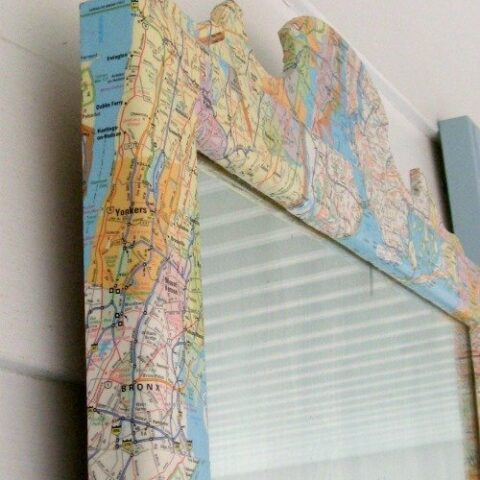 diy map mirror