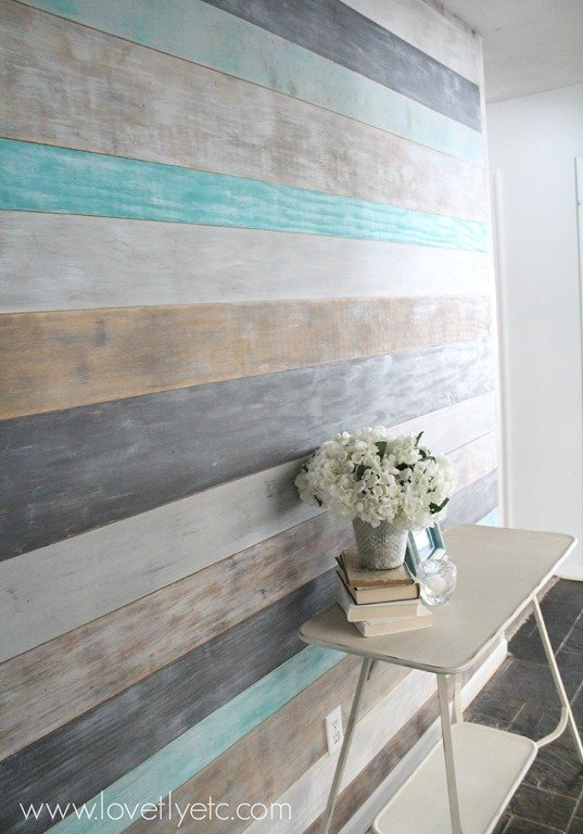 DIY Painted Plank Wall Lovely Etc
