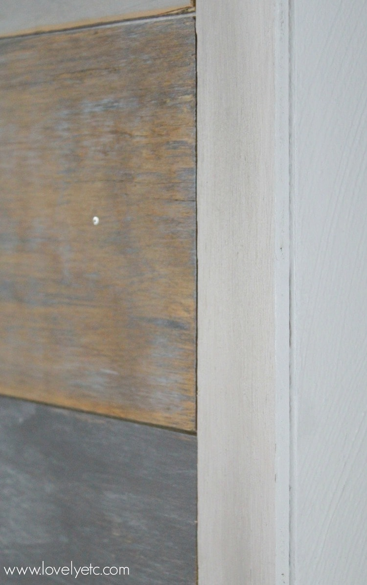 Trimmed Edge Of Plank Wall