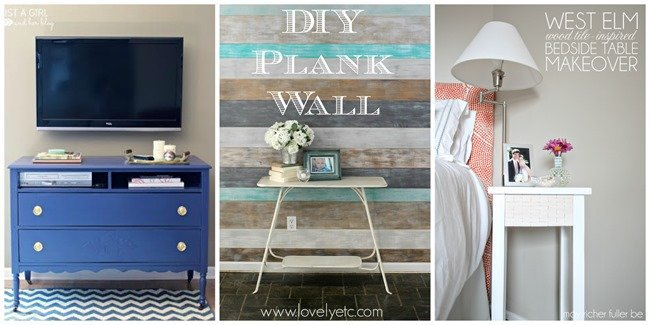 tvstand, plank wall, bedside table