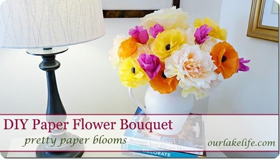 DIYPaperFlowerBouquet by our lake life