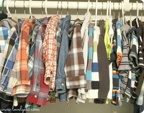 One stylin little boy wardrobe completely made of second hand finds