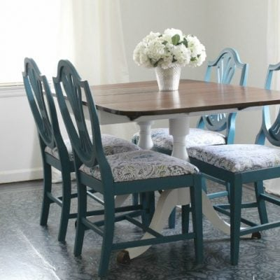 Gorgeous dining chair transformation