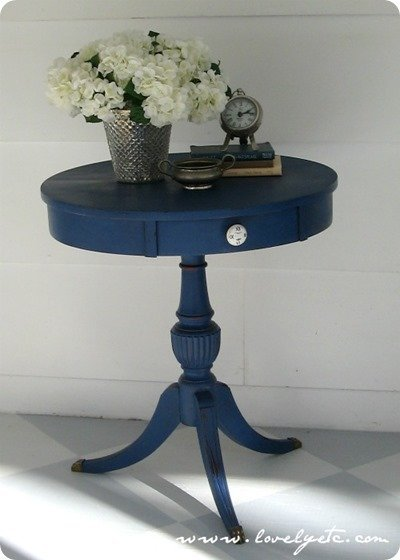 blue chalk paint table