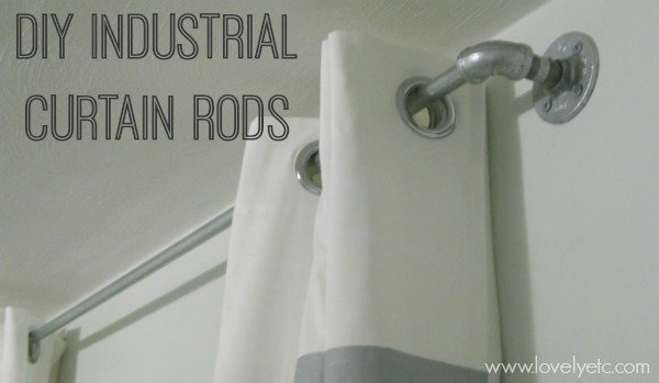 DIY Industrial Curtain Rods