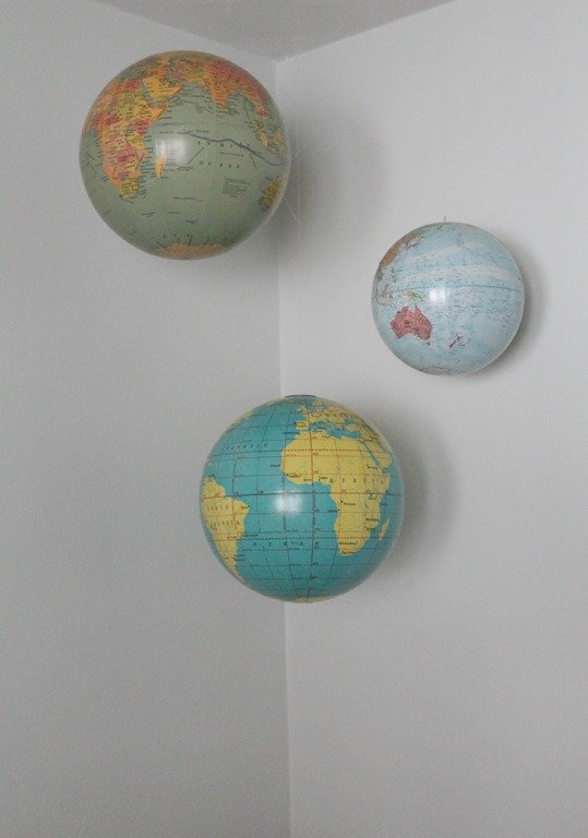 A New Use For Old Globes Hanging Globes In The Nursery