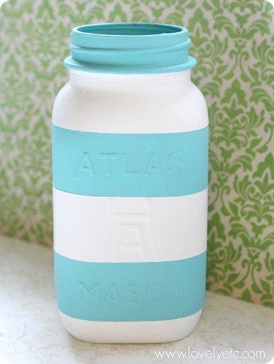 striped jar - predistressing