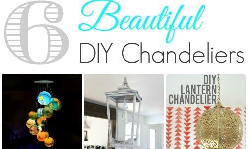 6 beautiful DIY chandeliers feature
