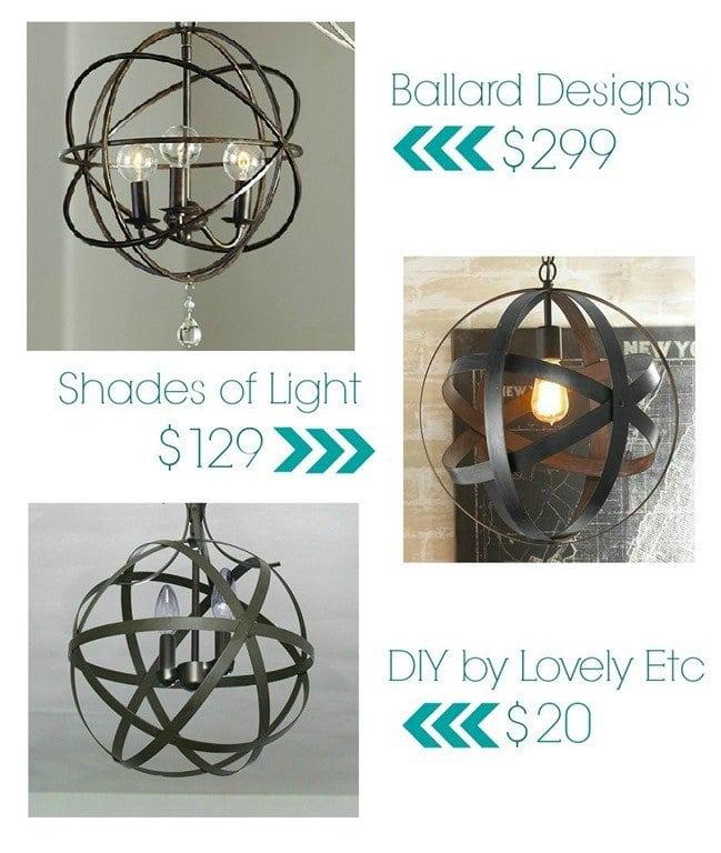 Easy and inexpensive DIY orb chandelier Lovely Etc – Diy Orb Chandelier