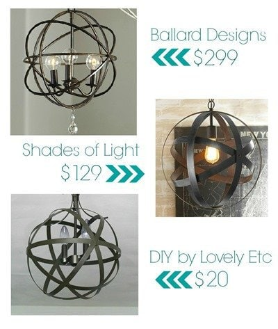 You can turn any old outdated light fixture into your house into a beautiful orb chandelier in less than an hour for only $20
