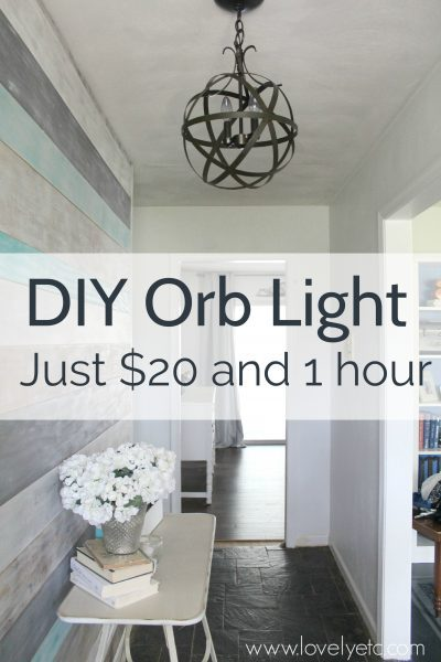 Make A DIY Orb Light Fixture. This Orb Chandelier Is Easy And Inexpensive  To Make