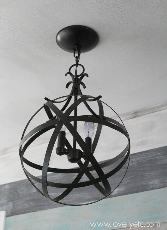 Quick And Easy DIY Orb Chandelier