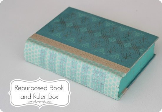 Repurposed book and ruler box