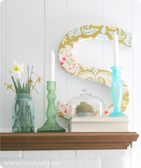 S is for spring mantel