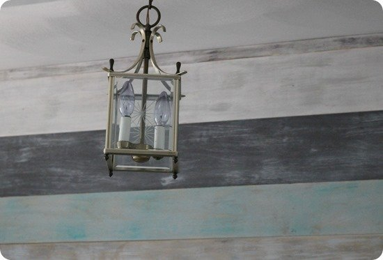 brass lantern before