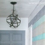 Easy and inexpensive DIY orb chandelier