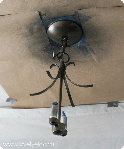 painting a light fixture the easy way