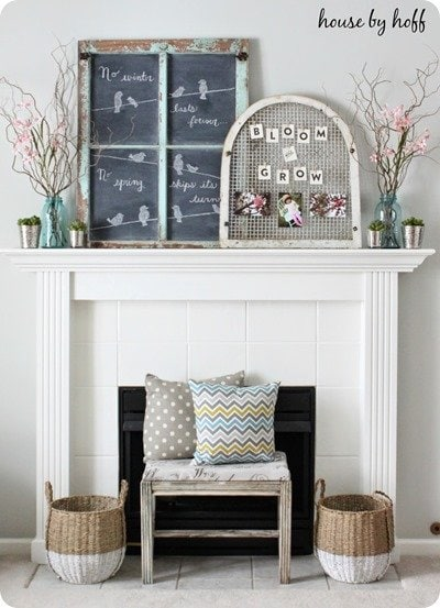 spring mantel by house by hoff