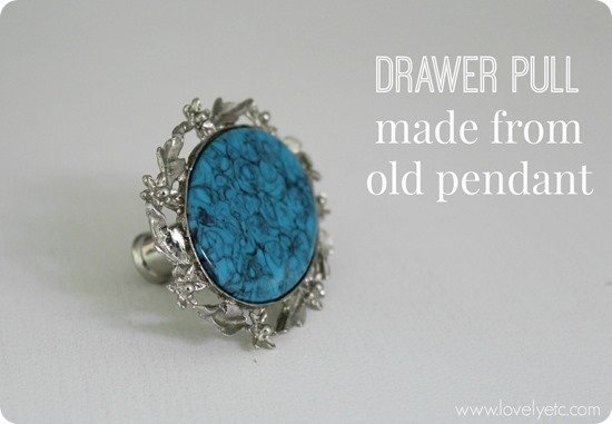 Draewr pulls made from old pendant