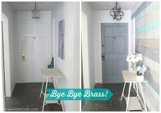 Getting rid of the brass in the foyer