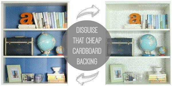 Ikea hack - disguise that cheap cardboard backing