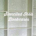 Ikea hack: Moroccan stenciled bookcases