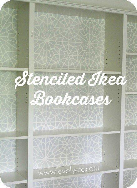 Starry Moroccan Night stencil bookcases
