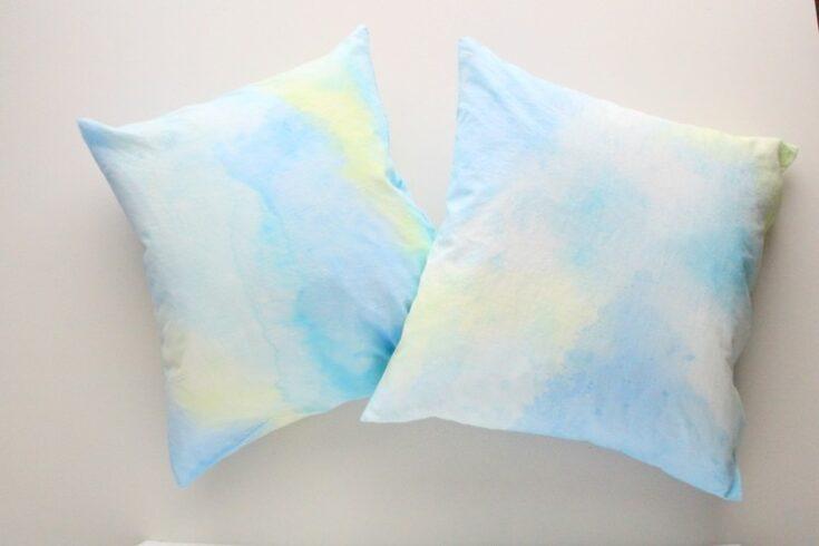 DIY Abstract Watercolor Pillows