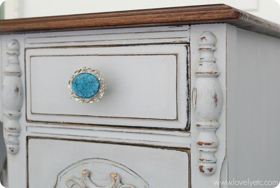 furniture hardware made from old jewelry