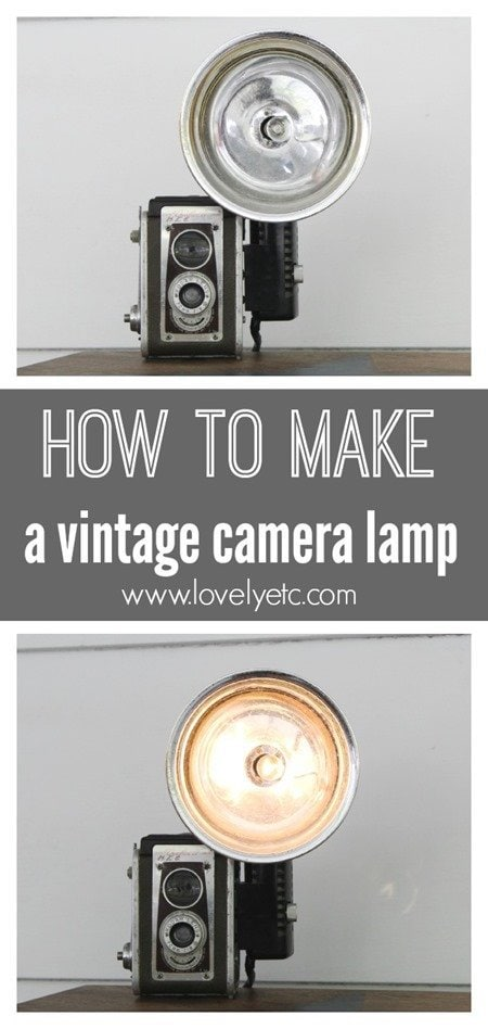 how to turn a vintage camera into a lamp lovely etc. Black Bedroom Furniture Sets. Home Design Ideas