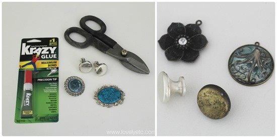 materials for making jewelry drawer pulls