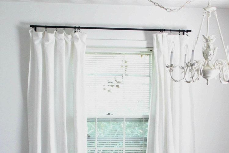 The Cheapest DIY Curtain Rods Ever