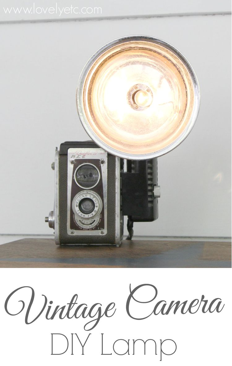 How To Turn A Vintage Camera Into Lamp Lovely Etc Flash Light Circuit Back Diy