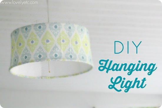 You can make a simple, inexpensive hanging pendant for any room in your house with a few cheap supplies. Need it for an outdoor space - just use outdoor fabric!
