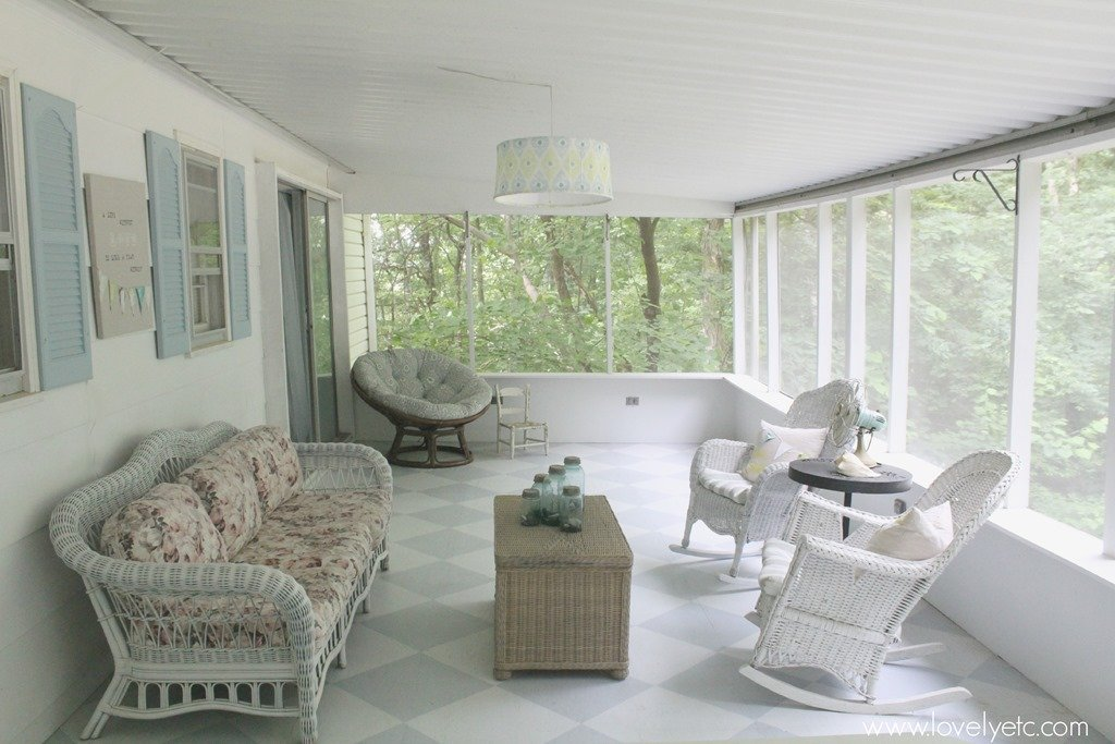 Hanging Light On Screened Porch