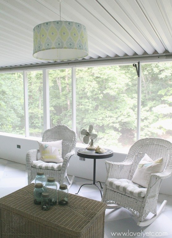 Hanging Light On The Screened Porch