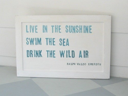 Beachy Handpainted Sign For Summer