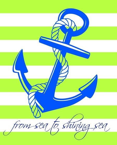 free green and blue patriotic anchor printable