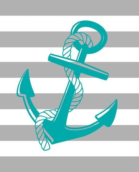 free printable gray and blue anchor