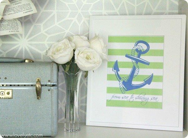 green anchor printable